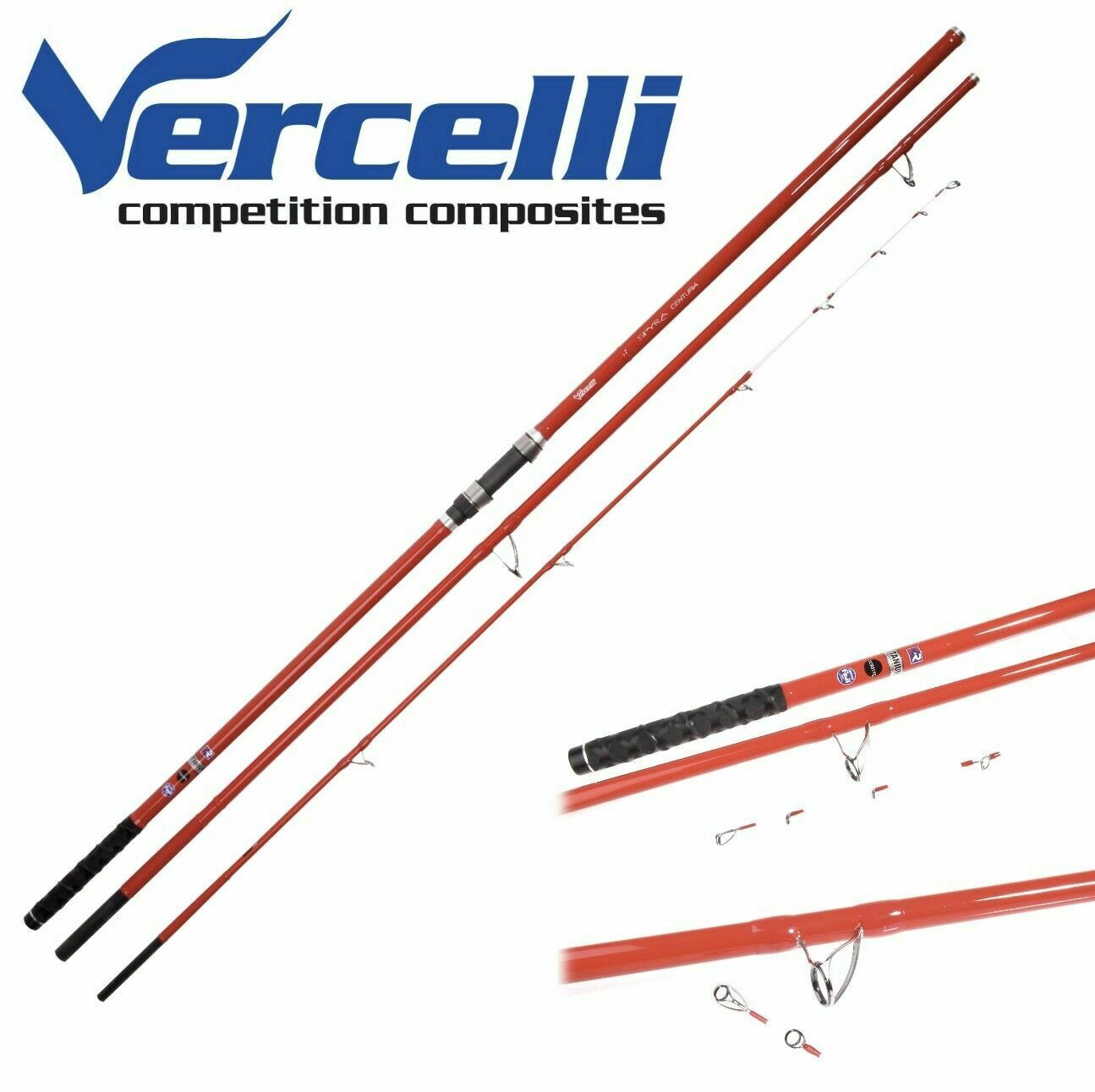 Caña Vercelli Spyra Varilla de competencia Composites Surfcasting centuria