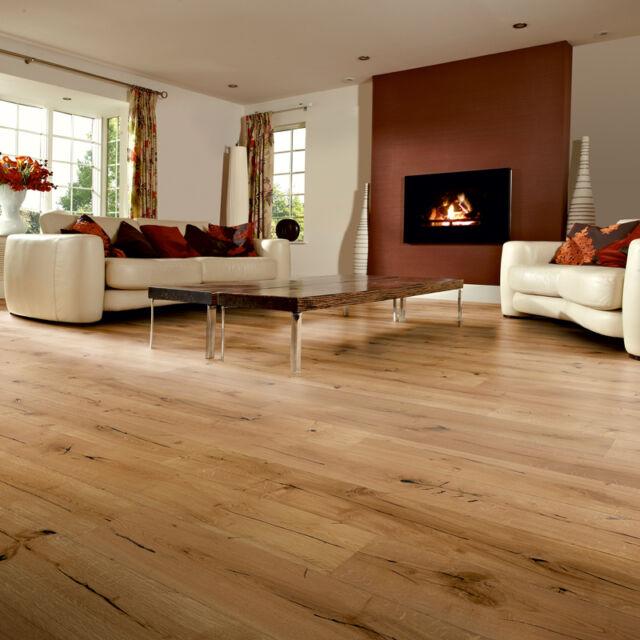 Woodpecker Berkeley Distressed Natural Oak Engineered Oak Wooden