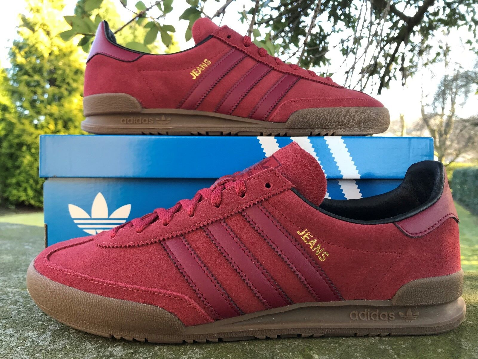 big sale e3867 c486b Adidas Originals Jeans Fashion Trainers Red Sizes US 12 BNIBWT Mens  nskfso2517-Athletic Shoes