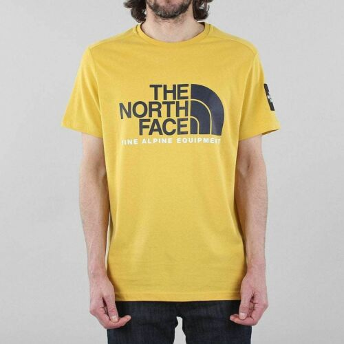 The North Face Men/'s New Fine Alpine 2 Short Sleeve Cotton T-shirt Bamboo Yellow