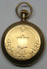 WALTHAM RIVERSIDE 14 K  SOLID GOLD  HUNTER POCKET WATCH 65838-1 DBW