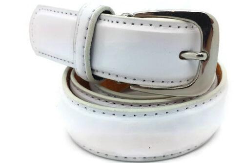 """Men/'s /& Women/'s 1/"""" White Leather Trouser//Skirt Belts"""