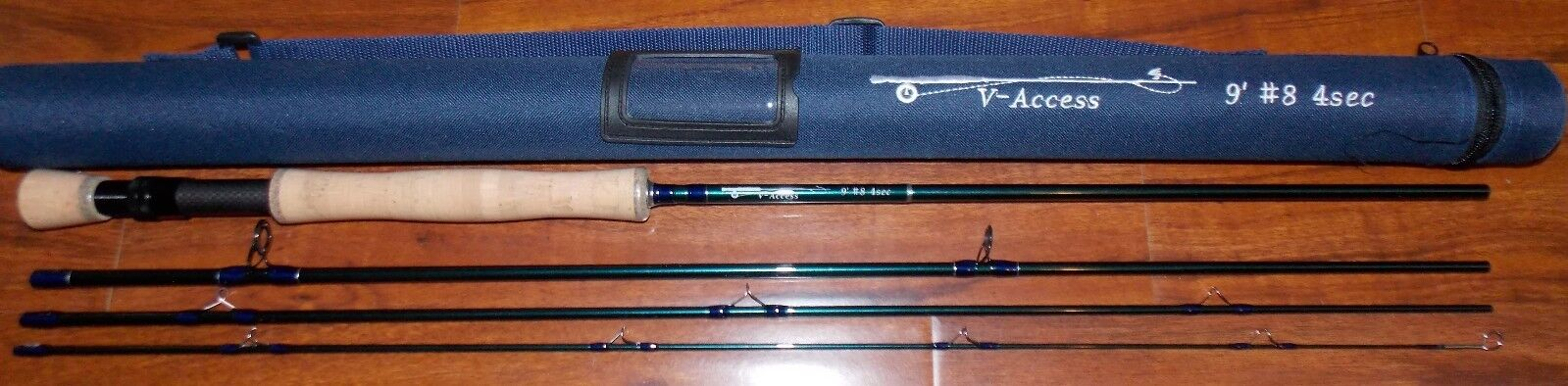 8 WT V-Access  Fliegen Fishing Rod   9 Foot  4 Sec. with Tube  FREE 3 DAY SHIPPING