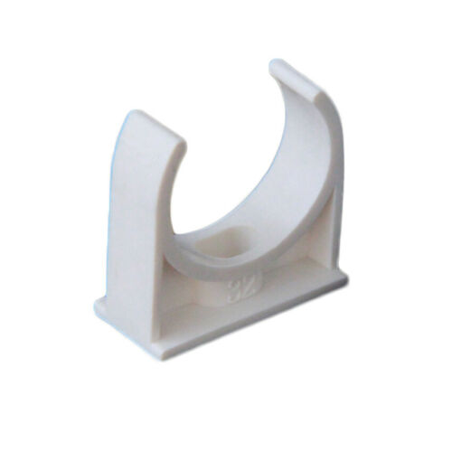 PVC U-Type Pipe Clamp Pipe Clip Tube Holder For 20//25//32//40//50mm Pipe Fittings