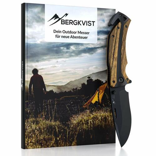 BERGKVIST K29 Tiger Taschenmesser Klappmesser Outdoor Messer mit Schleifstein