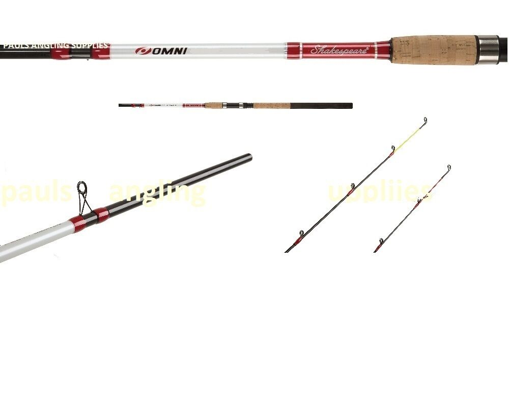 New Shakespeare Carbon Feeder Fishing Rod Omni  All Sizes 8 ,9,10 ,11 or 12 ft