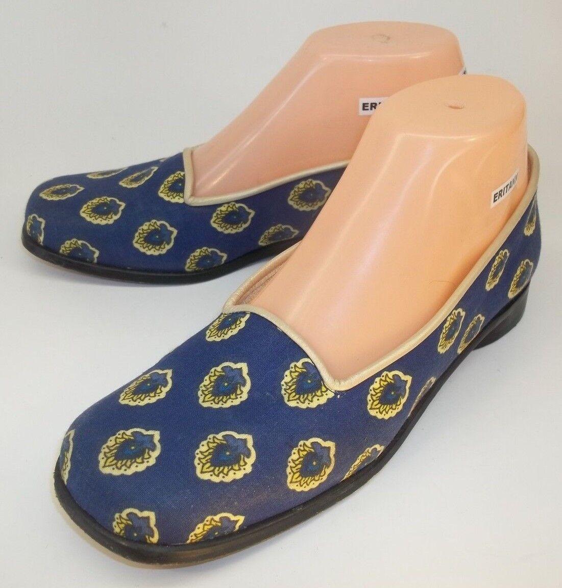 Estados de ánimo Mujer Mujer Mujer Zapatos Paul Mayer US 6.5 B Azul Tela Floral Suela De Cuero Sin Cordones  bienvenido a comprar