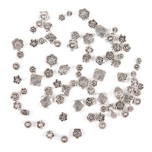 80Pcs-Lot-Mixed-Tibet-Silver-Flower-Spacer-Beads-For-Bracelet-Jewelry-DIY-yu