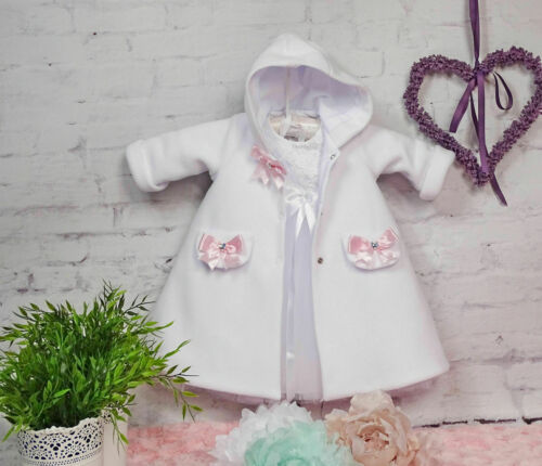 Taufkleid manteau taille 56,62,68,74,80,86,92,98 ❤ NEUF 2019 ❤ Bandeau