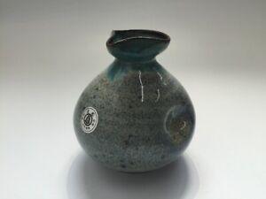 Japanese-Pottery-Sake-Bottle-Tokkuri-Vtg-Signed-Koishiwara-Ware-Yakimono-q016