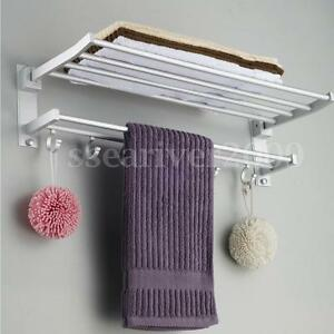 Wall-Mounted-Towel-Rack-Holder-Hook-Hanger-Bar-Shelf-Rail-Storage-Bathroom-Hotel