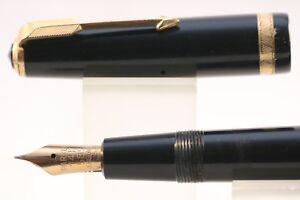 Vintage-c1956-Parker-Demi-Duofold-Standard-Fountain-Pen-Black-amp-GT