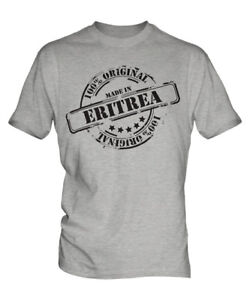 MADE IN ERITREA MENS T-SHIRT GIFT CHRISTMAS BIRTHDAY 18TH 30TH 40TH 50TH 60TH