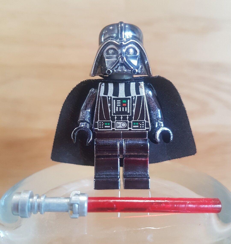 Genuine LEGO Star Wars Darth Vader Nero Cromato sw218 con Spada Laser
