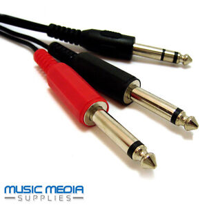 6-35mm-1-4-034-Cavo-Audio-Jack-Insert-Y-Piombo-Spina-Stereo-a-2-x-SPINE-MONO-2m
