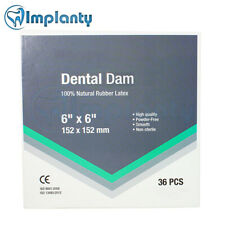 Dental Dam Rubber Latex Natural Sheet Surgical Site Isolation 6x6 152x152mm