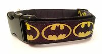 Batman Dog Collar, Cotton Blend, Handmade, Washable, Glow In The Dark Option