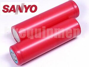 Sanyo-UR18650FM-18650-2-6Ah-2600-mAh-Li-ion-3-7v-Rechargeable-Battery-x2