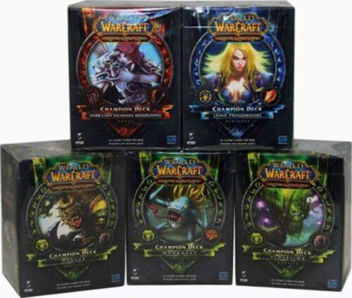 WORLD OF WARCRAFT WOW TCG CHAMPION DECK SET OF ALL 5 SEALED NEW