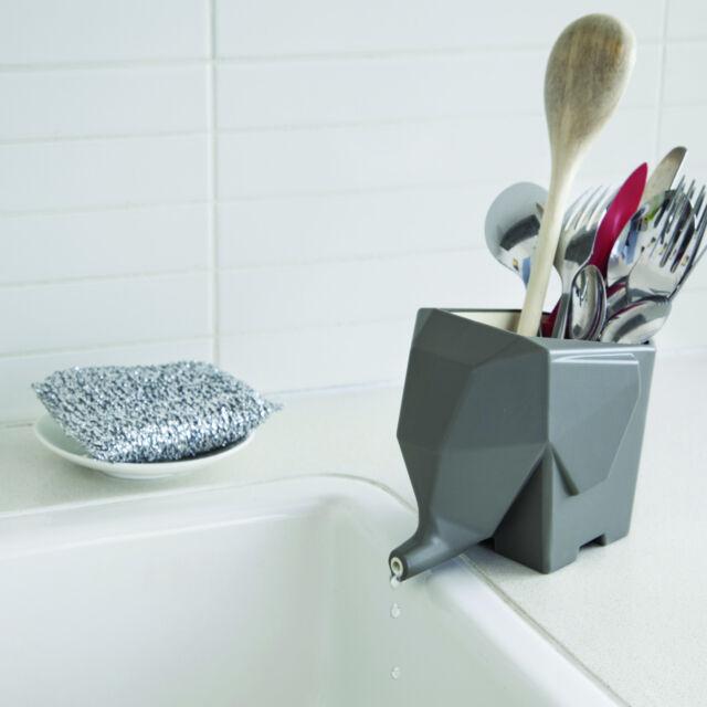 Design Besteck Abtropfgefäß Elephant Besteckhalter Spülen Zubehör Küchen Deko