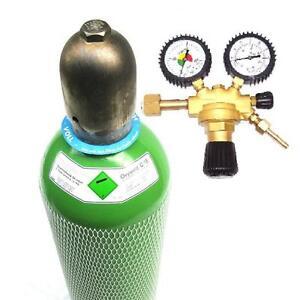 NEUE-Argon-4-6-20-Ltr-Gasflasche-gefuellt-WIG-Gasdruckminderer-Gasregel-Ventil