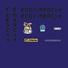 Eddy Merckx Criterium Bicycle Decals, Transfers, Stickers - Black n.250
