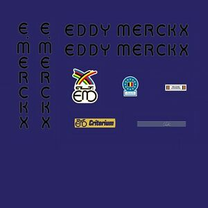 Stickers Set 7 Eddy Merckx Corsa Extra Bicycle Decals Transfers
