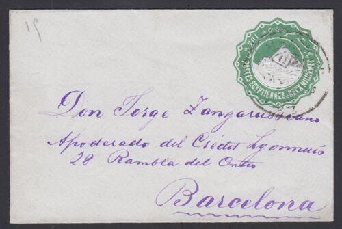 EGYPT, 1892c. Cover H&G 5, Alexandria - Barcelona