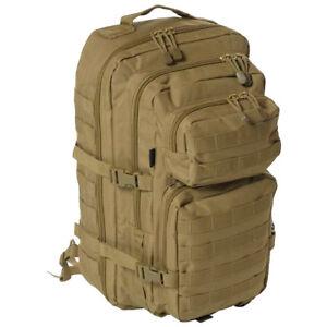 Tactical-Assault-Acolchado-Mochila-Grande-Una-Correa-Honda-Molle-Daypack-Coyote