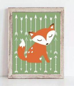 Baby Boy Fox Nursery Decor Orange And