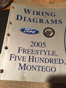 2005 Ford Freestyle Five Hundred 500 Montego Wiring Diagram Service Manual  | eBayeBay