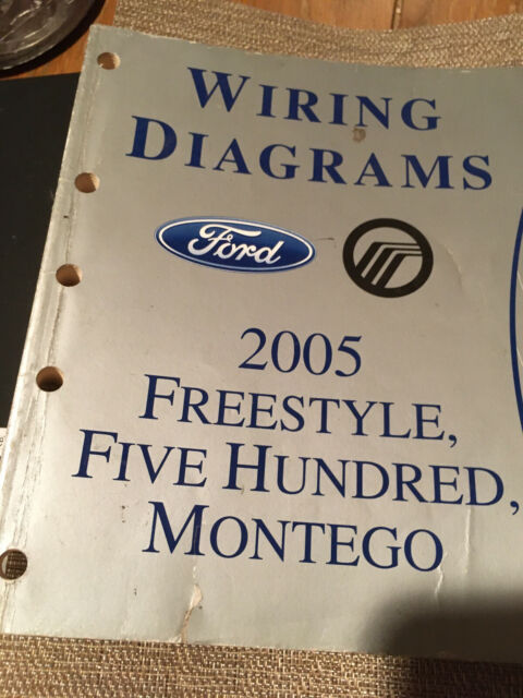 2005 Ford Freestyle Five Hundred 500 Montego Wiring