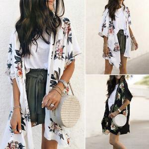 ZANZEA-Women-Floral-Print-Chiffon-Kimono-Cardigan-Open-Front-Jacket-Coat-Plus