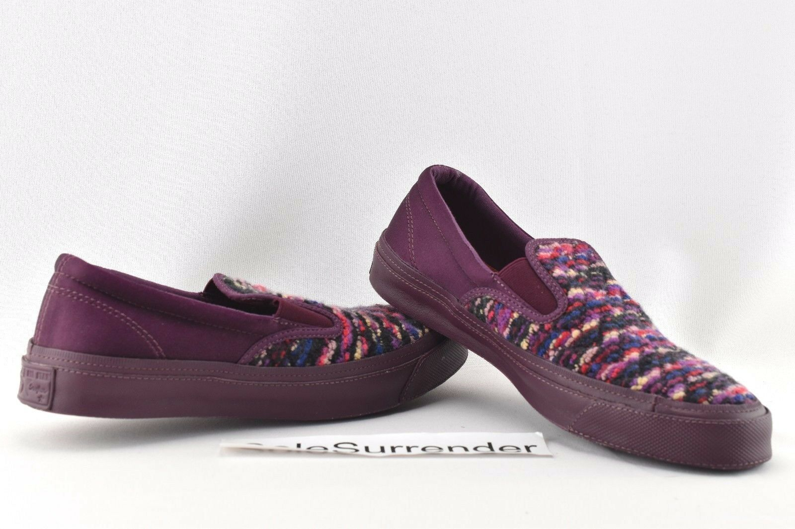 Converse X Missoni All Star Deckstar - CHOOSE SIZE- 151012C Burgundy Maroon Knit