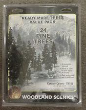 "24 model railroad PINE TREES Woodland Scenics 4""-6"" 1581"