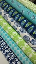 7 Fat Quarters Bundle of Kate Nelligan's TIDE POOL fabrics ~ 1.75 yards total