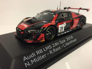 Audi-R8-LMS-24h-SPA-2016-Muller-Rast-Vanthoor-1-43-Scale-Spark