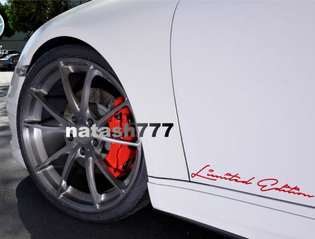 Limited Edition Racing Sport Car Truck Suv Vinyl Decal Sticker