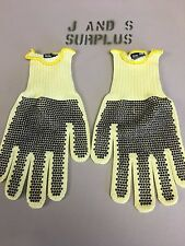 Honeywell 100% Kevlar Cut Resistant Gloves KVD20ARTC-100 Yellow Perfect Fit NEW