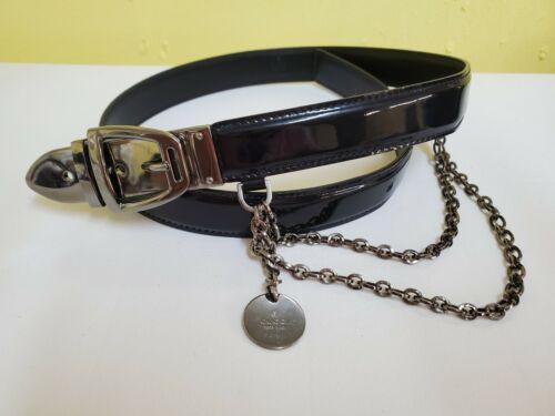 Gucci Black Womens Patent Leather Belt