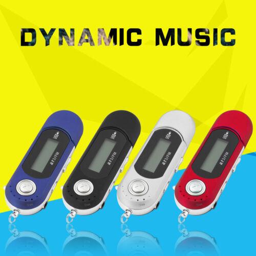 Portable Music MP3 Player USB Digital LCD Screen Support 32GB Flash TF FM Radio