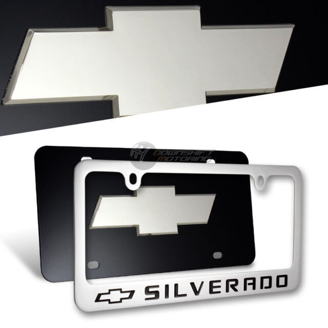 Chevrolet Z71 Black Stainless Steel License Plate Frame