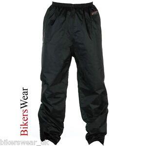 Spada 911 Black Textile Waterproof Motorcycle Over Trousers