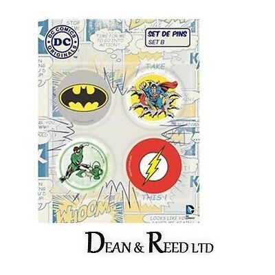 DC Comics Originals Pin Badges x 4 Set B