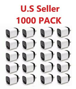 1000-PACK-USB-Wall-Charger-Power-Adapter-AC-Home-US-Plug-FOR-Samsung-LG-iPhone