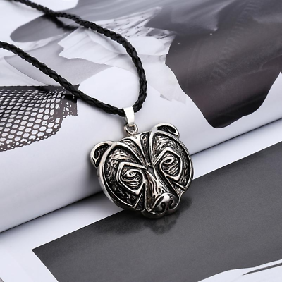 Slavic Antique Style Unisex Gift Norse Bear Necklace In Gift Box Viking