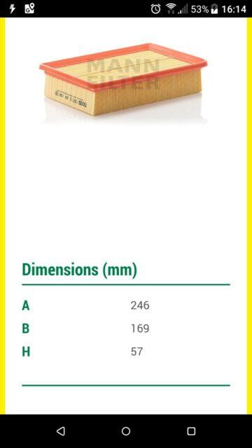 C31101//1 Genuine OE Quality MANN Air Filter
