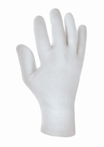 12-600 Paar Baumwollhandschuhe weiß Trikot Handschuhe Stoff Arbeitshandschuhe