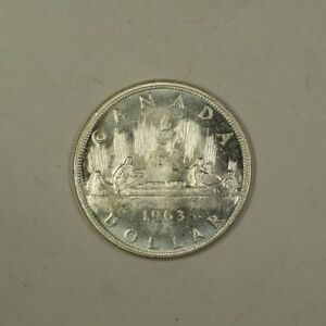 1963-Canada-Silver-Dollar-Coin-1-BU-Brilliant-Uncirculated-80-Silver