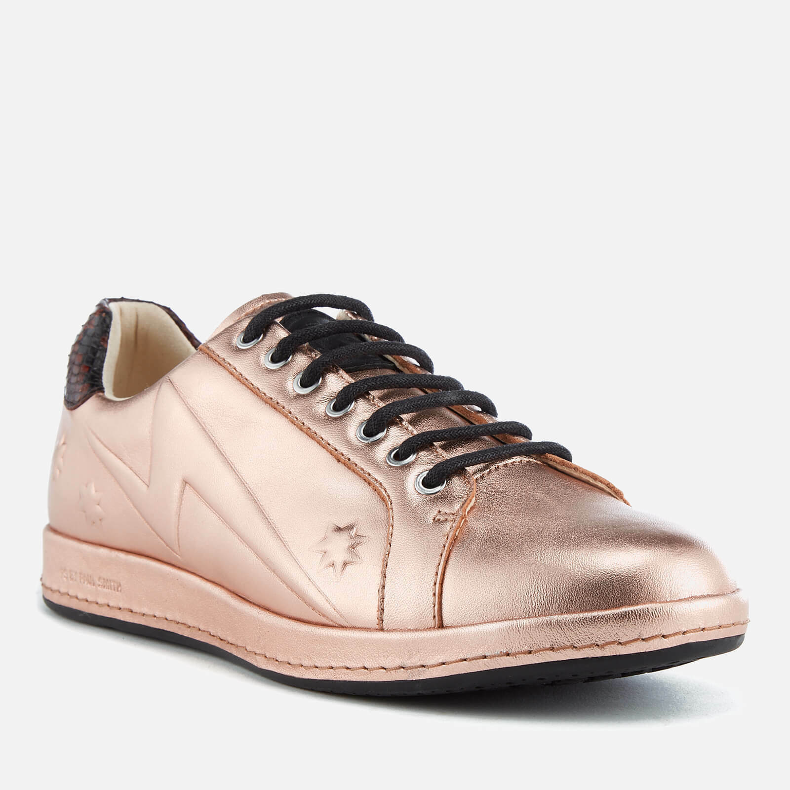 NEW PAUL SMITH PS pink gold gold gold Metallic Copper Star Embossed Leather Sneakers Flat d1950c